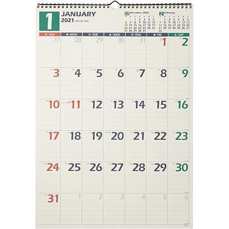 能率 NOLTY 2021年 カレンダー 壁掛け 31 B3 C129