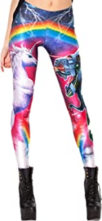 Women's Digital Print Women's Full-Length Yoga Workout Leggings Thin Capris Stretchy Ankle Leggings Tights