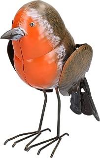 AB Tools Robin Red Brest Garden Sculpture Ornament Statue Metal Decoration Animal Bird