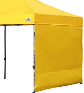 ABCCANOPY 15+Colors 10' Sun Wall for 10'x 10' Straight Leg pop up Canopy, 10' Sidewall kit (1 Panel) with Truss Straps (Yellow)