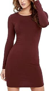 FACE N FACE Women's Knitting Sexy Casual Long Sleeve Short Dress