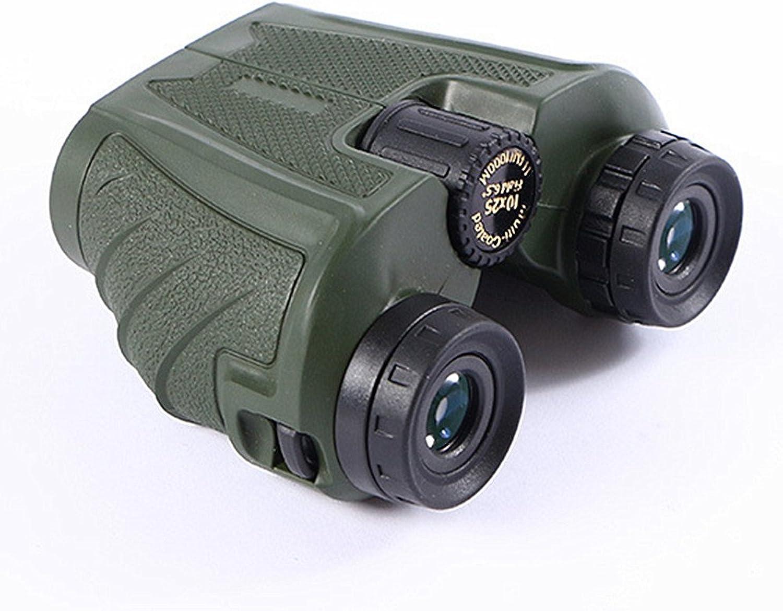 HD Large eyepieces Forest Green Binoculars 10X25 Non-Slip Grip HD High Power Trend Telescope