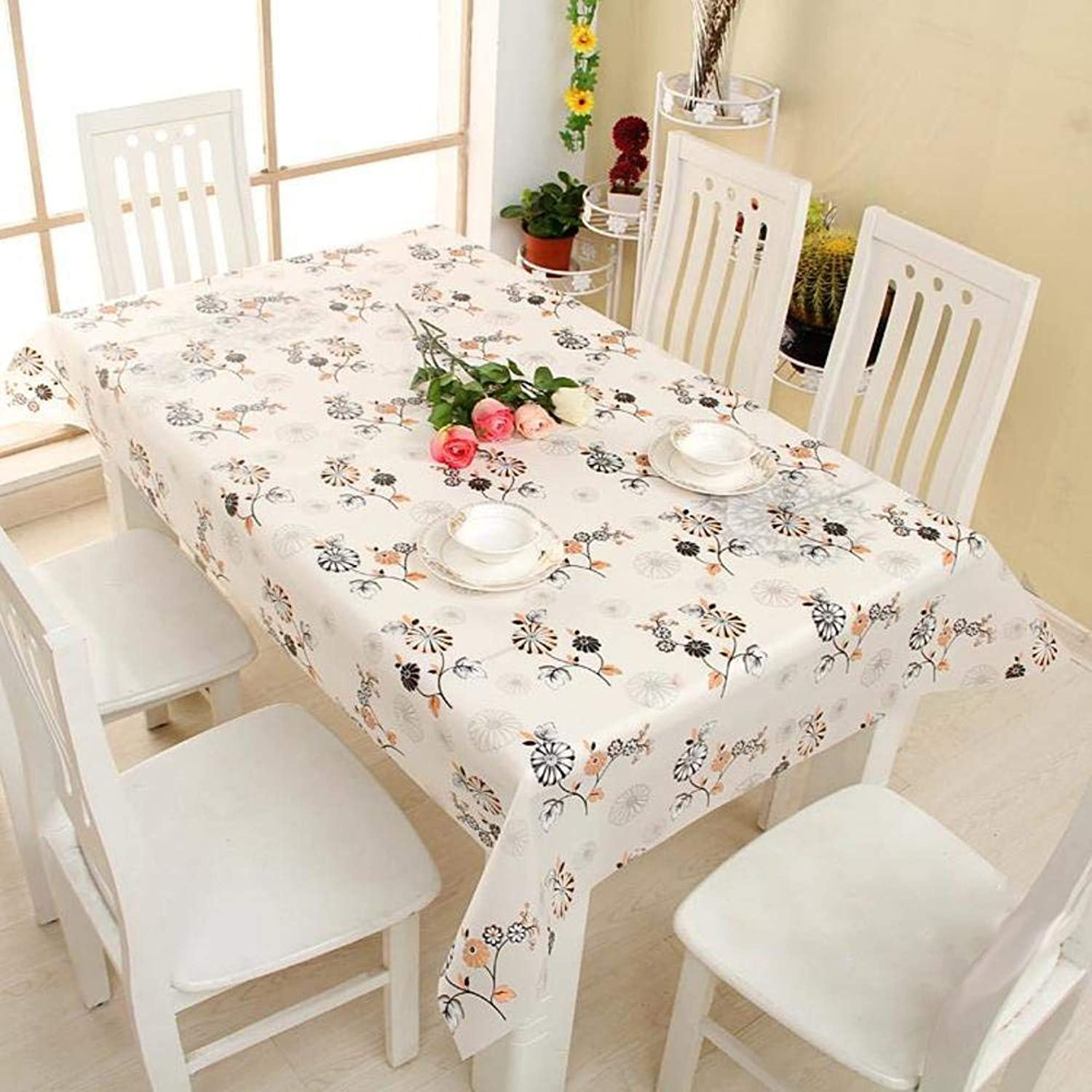 envío rápido en todo el mundo WENYAO tabcloth Waterproof Oil-Proof Anti-Hot Plastic Tablecloth Tablecloth Tablecloth Restaurant Rectangular Coffee tabtabmat tabcover Projoector Desk Covering,B_Diameter 140cm  forma única