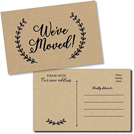 Personalize Postcard Here/'s the Scoop We/'ve Moved Printed We/'ve Moved Post Card