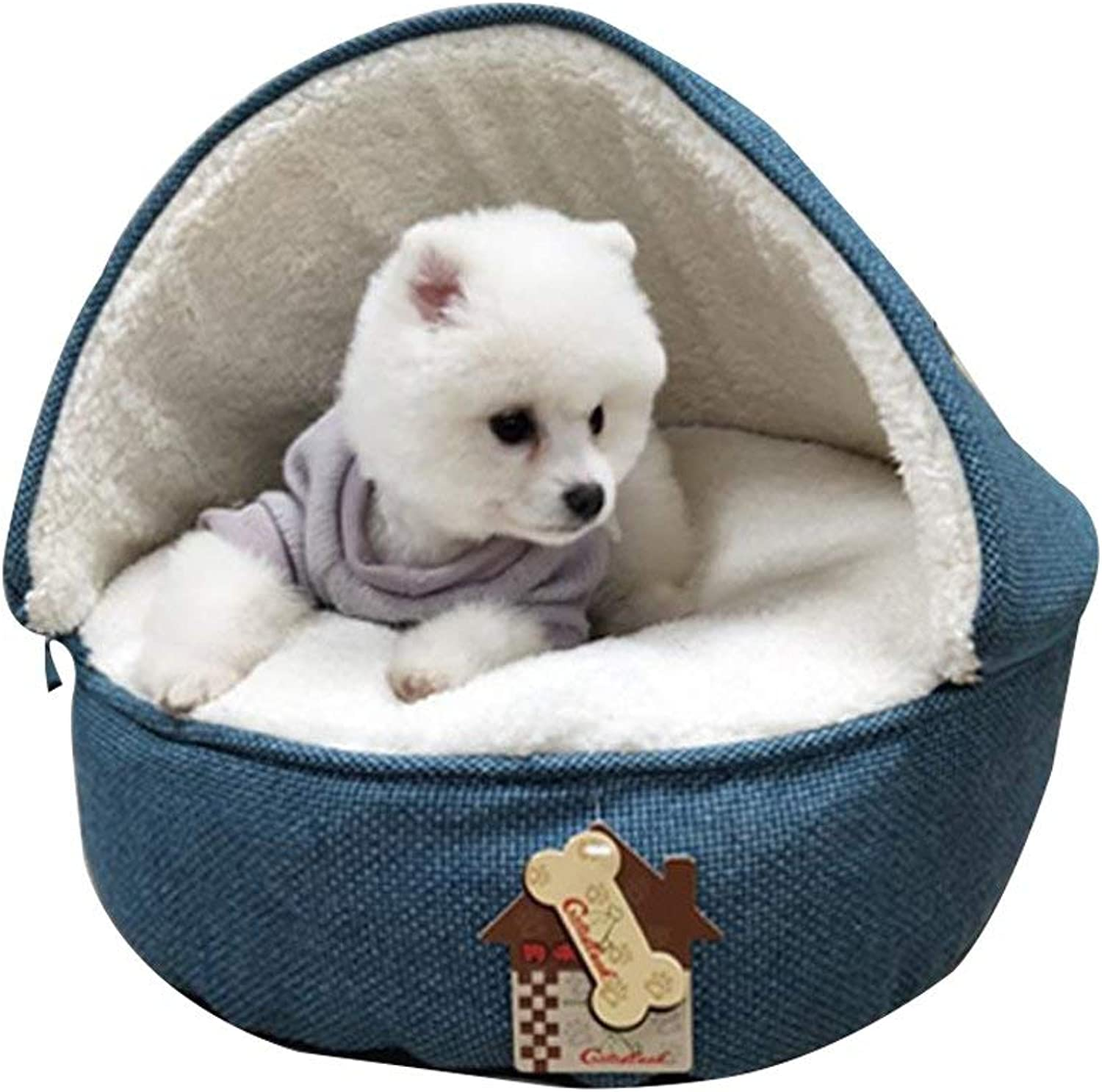 FUWUX Cat Dog House Kennel Puppy Nest Sleeping Bag Keep Warm Pet Supplies Pet bed Dog Bed Pet House