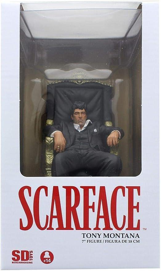 Scarface Tony Montana Al Pacino Sitting Chair Sitzend Stuhl 18cm Figur SD Toys