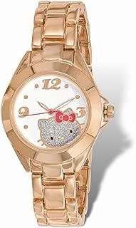 Hello Kitty Hello Kitty White Dial Rose Gold-tone Alloy Watch One Size