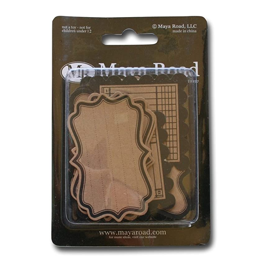 Maya Road Kraft Journaling Tags, Decorative