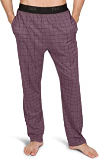 Performance Dry Fit Pajama Pants for Men - Stretch Lounge Pjs with Pockets, Tapered Fit, Plaid