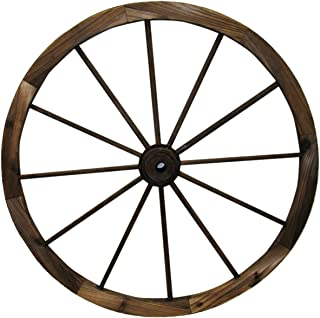 "Leigh Country TX 93951 30"" Wagon Wheel, 30 Inch, Walnut Finish"