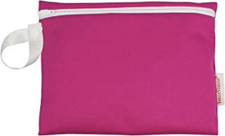 ImseVimse Period Wet Bags, Washable Zippered Pouch for Dry or Wet Reusable Sanitary Pads, Nursing Pads or Washable Wipes (Fuschia)