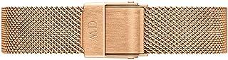 Daniel Wellington Petite Melrose Cinturino Donna, 12mm, in Acciaio Inox, Oro Rosato