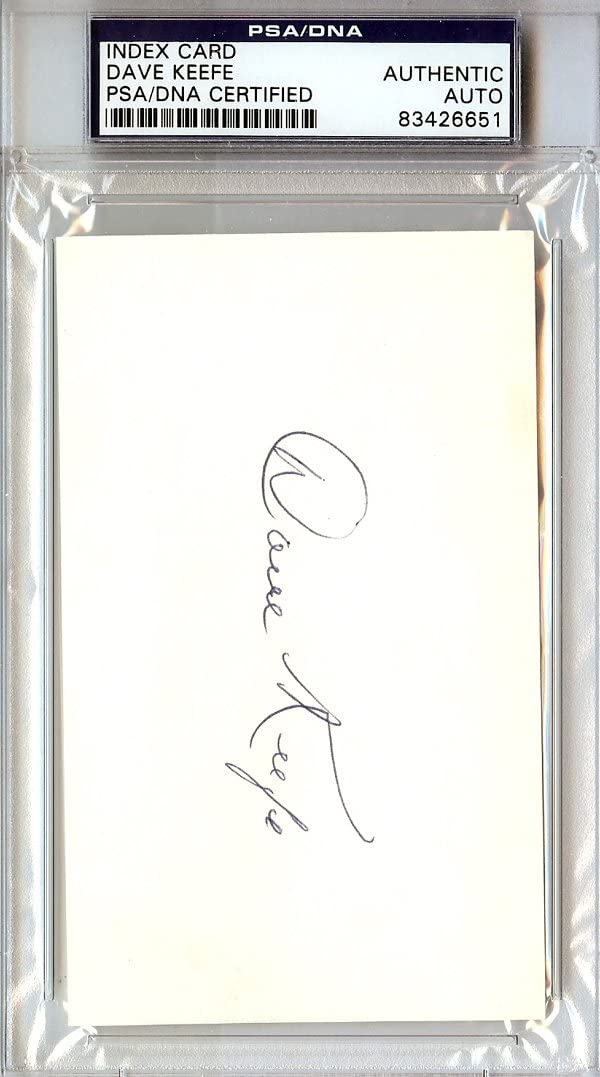 Austin Mall Dave Keefe Lowest price challenge Autographed 3x5 Index #83426651 PSA DNA Card