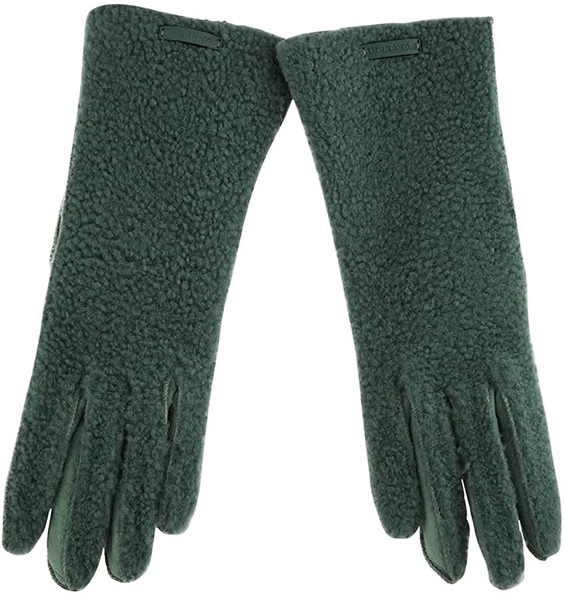 Max 66% OFF Burberry Green Shearling And Leather Gloves Cheap 7.5 Size Brand