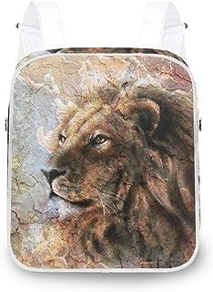 LUPINZ Lion Head Mochila Durable Mochila Bolsa de Hombro Mochila