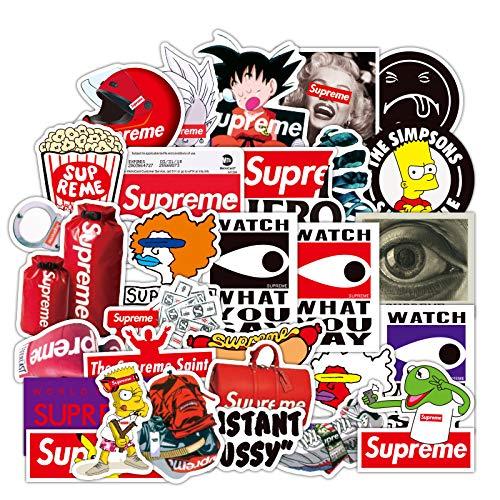 CHUDU Moda marca equipaje pegatinas decoración pegatinas ordenador Notebook DIY personalidad creativo popular pegatinas 100 hojas