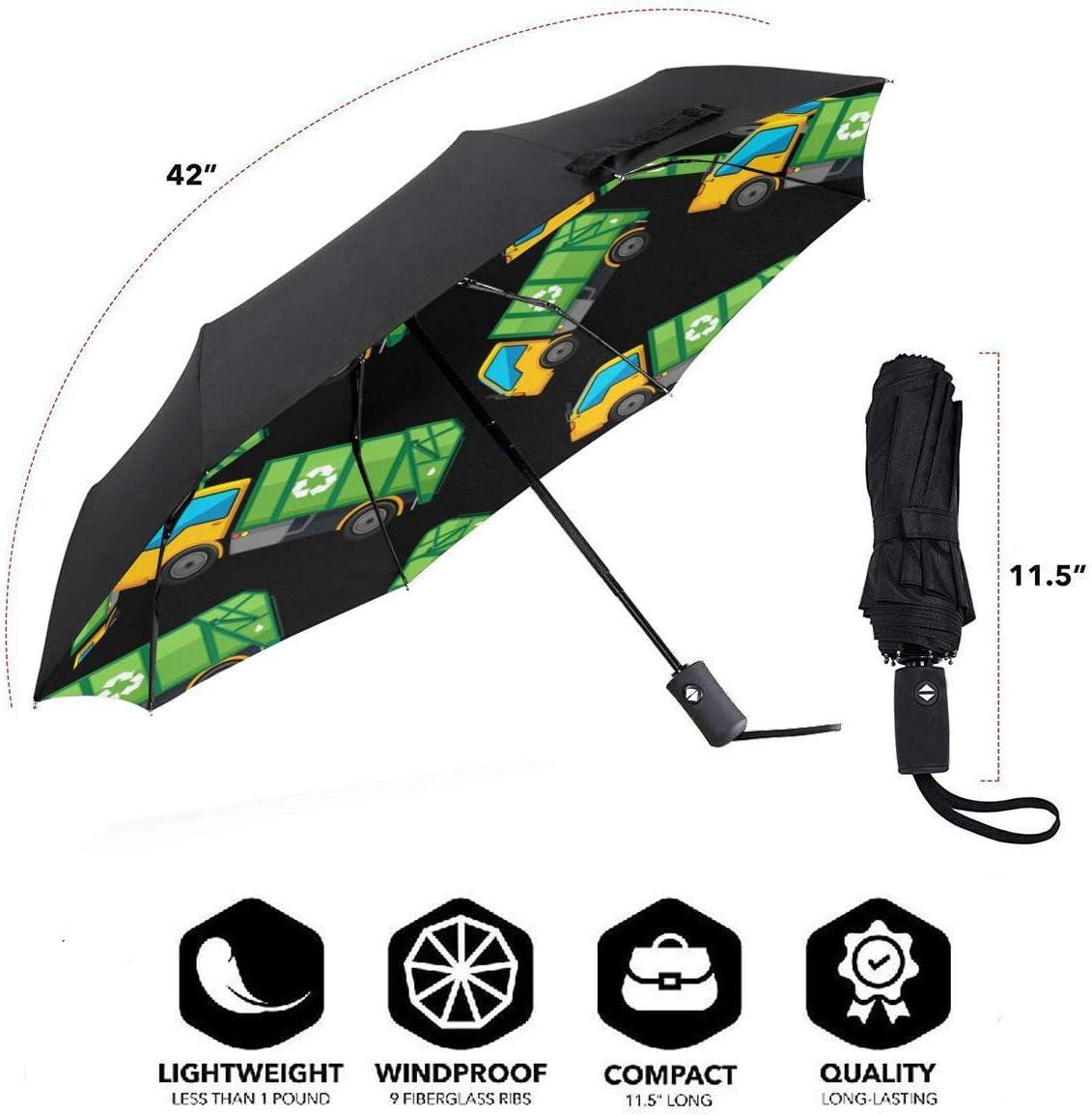 Cartoon Boston Terrier Pattern Automatic Tri-Fold Umbrella Parasol Sun Umbrella Sunshade