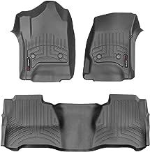 WeatherTech Custom Fit FloorLiner - 446071-445424 - 1st & 2nd Row (Black)