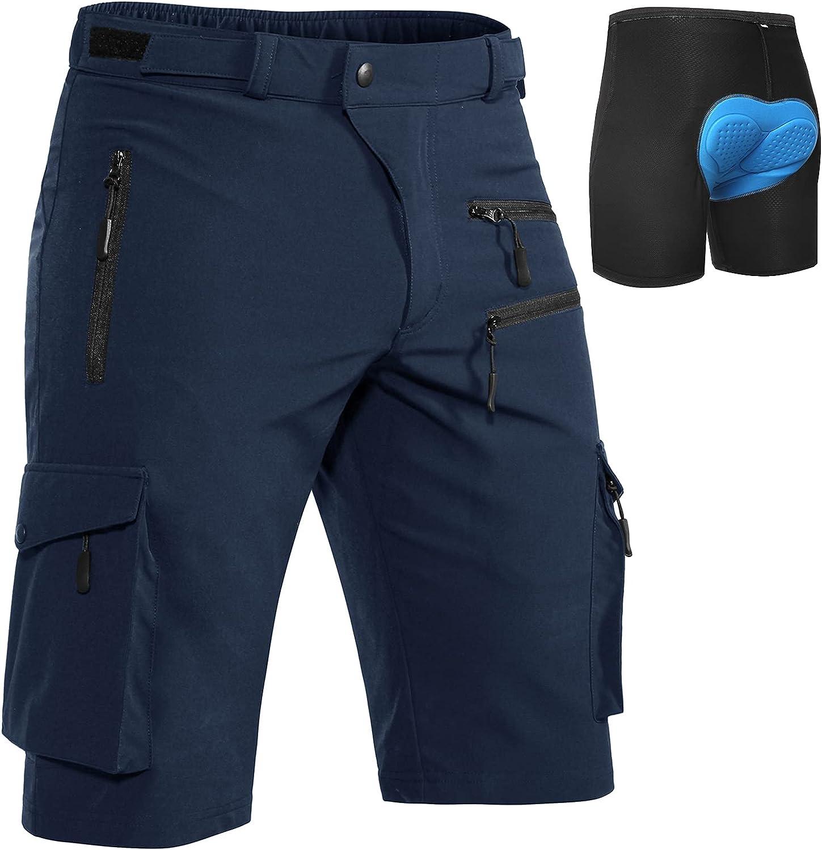 overseas Hiauspor MTB-Shorts-Mens-Cycling-Shorts-Padded-Mountain-Bike-Sho Bombing free shipping