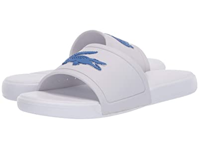 Lacoste Kids L.30 Slide 120 1 CUJ (Little Kid/Big Kid) (White/Blue) Kid