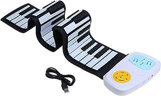 abcGoodefg Portable 49 Key Roll Up Piano Keyboard, Flexible Electronic Piano Keyboard, Rechargeable Digital Beginner Piano...