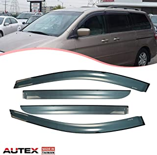 AUTEX Tape on Window Visor Compatible with Honda Odyssey 2005 2006 2007 Side Window Wind Deflector Sun Rain Guard