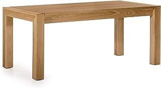 Amazon Brand Table classique Chêne sauvage huilé naturel 180 x 90 x 76 cm