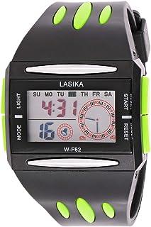 ساعة لاسيكا لكلا الجنسين بمينا رمادي وبسوار بولي يوريثاين - WF062