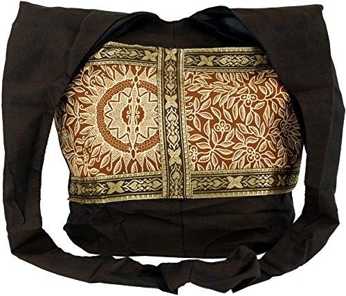 GURU-SHOP Sadhu Bag, Bandolera, Bolso Hippie - Turquesa, Unisex - Adultos, Algodón, 30x35x10 cm, Sadhu Bolsa, la Bolsa Hippie