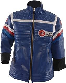 Allten Men's Costume Blue or Black Leather Punk Jacket
