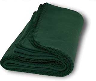 US Quality Super Soft Cozy Fleece Throw Blankets for Beds, Travel, House and Pets (Forest Green)