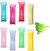 SMALL SIZE Frozip 125 Disposable Ice Popsicle Mold Bags  BPA Free Freezer Tubes With Zip Seals   For Healthy Snacks, Yogurt Sticks, Juice & Fruit Smoothies, Ice Candy Pops  Comes With A Funnel 5
