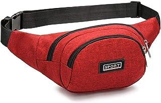 Travel Essential, Stylish and Durable Waterproof Solid Color Nylon Men's Shoulder Bag (Color : Orange, Size : 36x15x17cm)