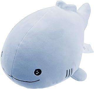 "Molizhi Stuffed Animals Whale Pillow Very Soft Fish Plush Toy 13.8"" 13.8inch Blue"
