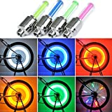 vimmor 8pcs Bike Bicycle LED Wheel Lights Valve Lamp Valve Core Light para Bicicleta para bicicleta de montaña, Blue+Red+Green+Yellow