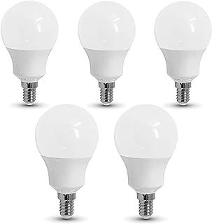 Juego de 5 bombillas LED de zona, E14, 9 W, luz diurna (4000 K), 806 lm, equivale a 60 W, chips Samsung, ángulo de haz de 200°