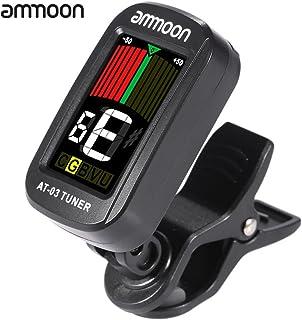 ammoon クリップ式 チューナー 360度回転可能 ギターチューナー カラー液晶スクリーン ギター/クロマチック/バイオリン/ベース/ウクレレなど用 AT 03