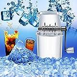 MEISI Eismischer, manueller Eiscrusher, Mini-Eismaschine, tragbar, ideal für Cocktails, gemischte Getränke und schnell kühlende Sommergetränke