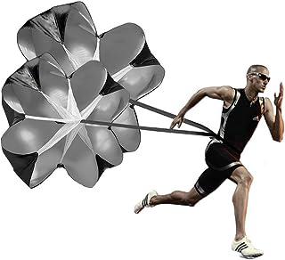 KUYOU Running Speed Training, 2 Umbrella Speed Chute 56 Inch Running Parachute Soccer Training for Weight Bearing Running and Fitness Core Strength Training