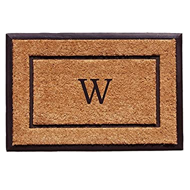 Home & More 101632436W The General Monogram Doormat, Letter W