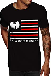 USA Flag Graphic 100% Cotton Men's Vintage Short Sleeves T Shirts