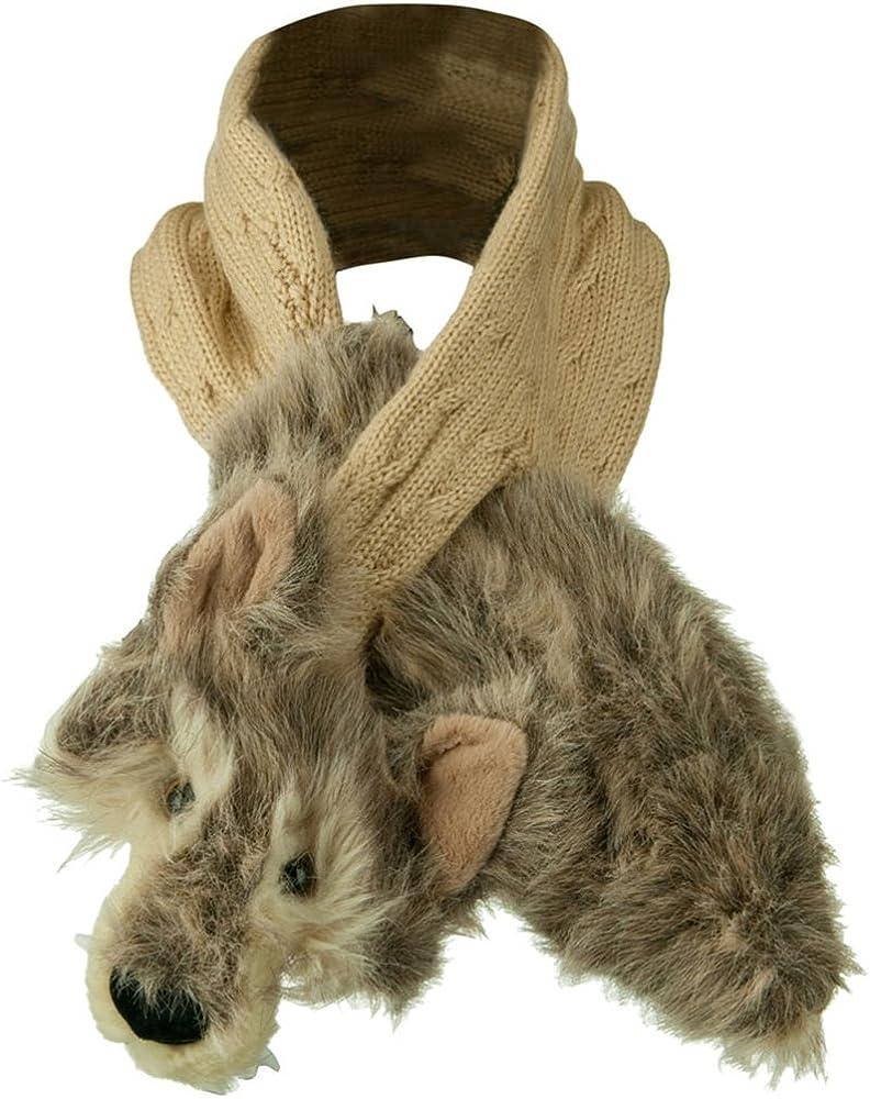 Kid's Animal Fur Scarf
