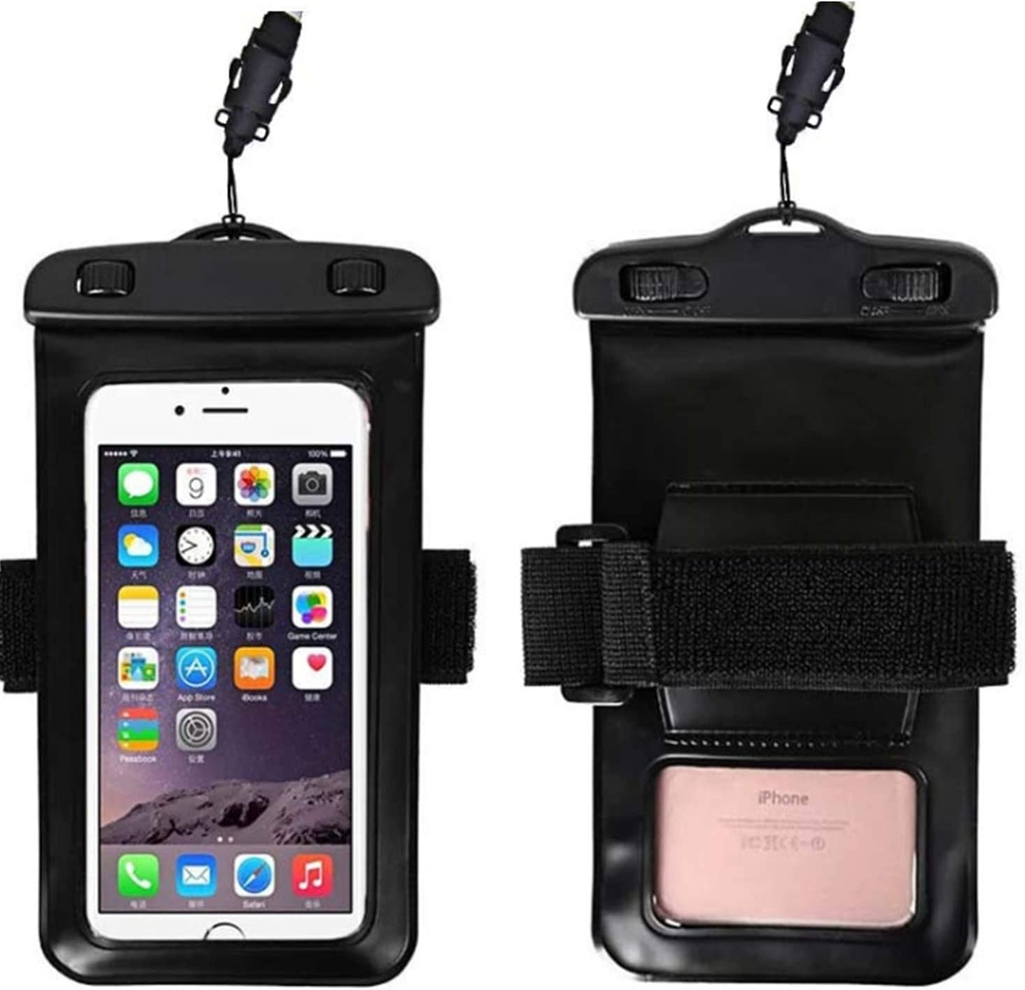Universal Waterproof Pouch with Armband, Lightweight Underwater Cellphone Dry Bag for Samsung Galaxy F22, M32, A22, F52 5G, M42 5G, M12, Quantum 2, F12, F02s, A72, A52 5G