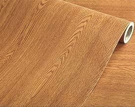Yija Brown Winged Wood Grain Waterproof Self Adhesive Shelf Liner Dresser Drawer Cabinet Sticker 15.6inch by 79inch