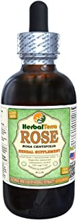 Rose (Rosa Centifolia) Glycerite, Organic Dried Petals Alcohol-FREE Liquid Extract 2 oz