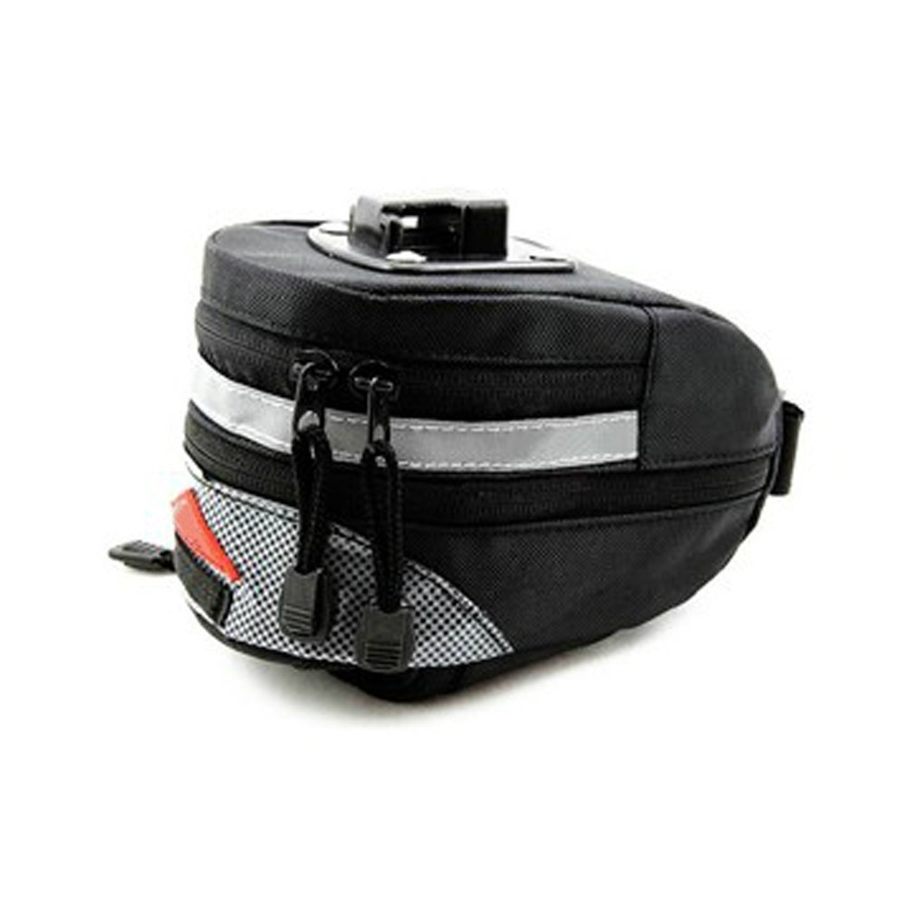 SUPOW® Saddle Bag, Outdoor Tube Triangle Phone Bag Strap-On Seat Bag Front Saddle Frame Pouch Pack Bike Accessory with Buckle-Black by SUPOW: Amazon.es: Deportes y aire libre