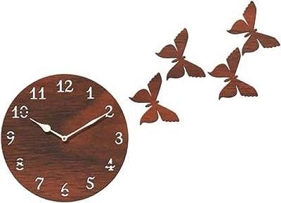 Mishty Wood Wall Clock (25 x 25 cm, Dark Brown)