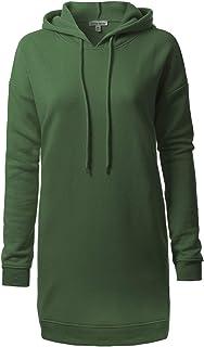 Olivia 设计女式休闲宽松长袖超大束腰运动衫 Ihow005 Army Green 3X-Large