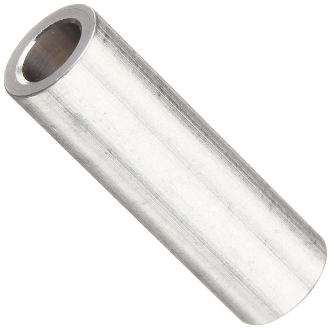 Round Spacer, Aluminum, Plain Finish, #10 Screw Size, 5/16