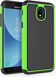 Case for Samsung Galaxy J3 2018/J3 V 2018/J3 Achieve/Express Prime 3/Amp Prime 3/J3 Eclipse 2/J3 Prime 2/J3 Star/J3 Orbit/Sol 3/J3 Aura/J3 Emerge 2018, SYONER [Shockproof] Phone Case Cover [Green]